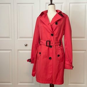 Michael Kors coral belted trench size M